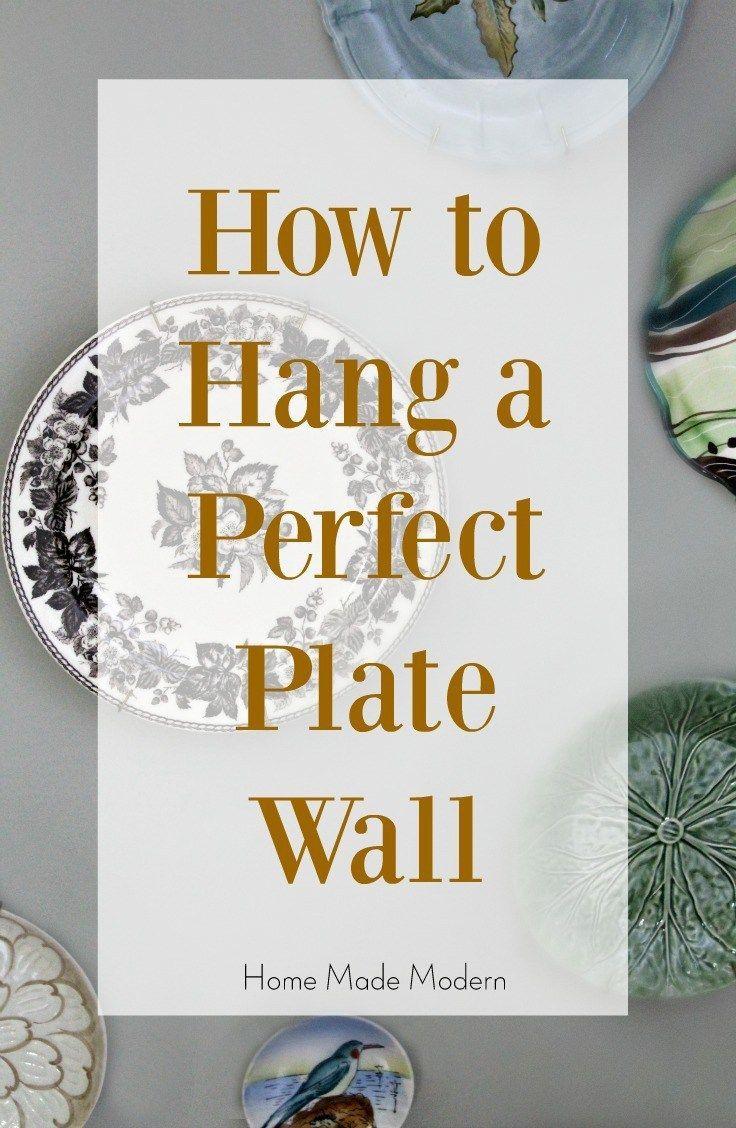 how to hang a plate wall #walldecor #budgetdecorating
