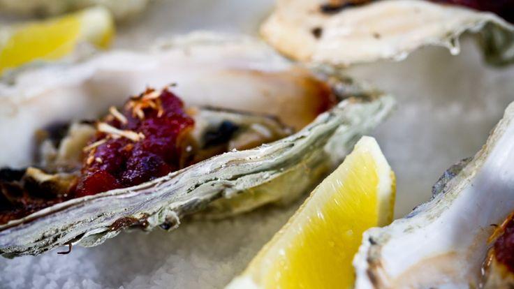 Une recette d'huîtres de Hog Island avec sauce au raifort et chipotle, présentée sur Zeste et Zeste.tv.
