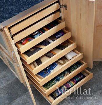 Base Flat Storage - Masterpiece Accessories - Merillat