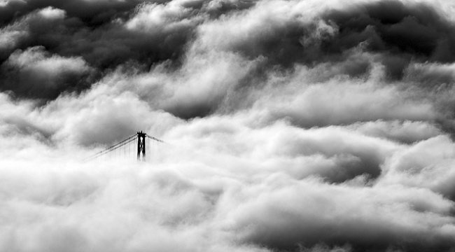 Vancouver Canada News Flickr Buzz: January 18, 2013  Lions Gate Bridge covered in fog!