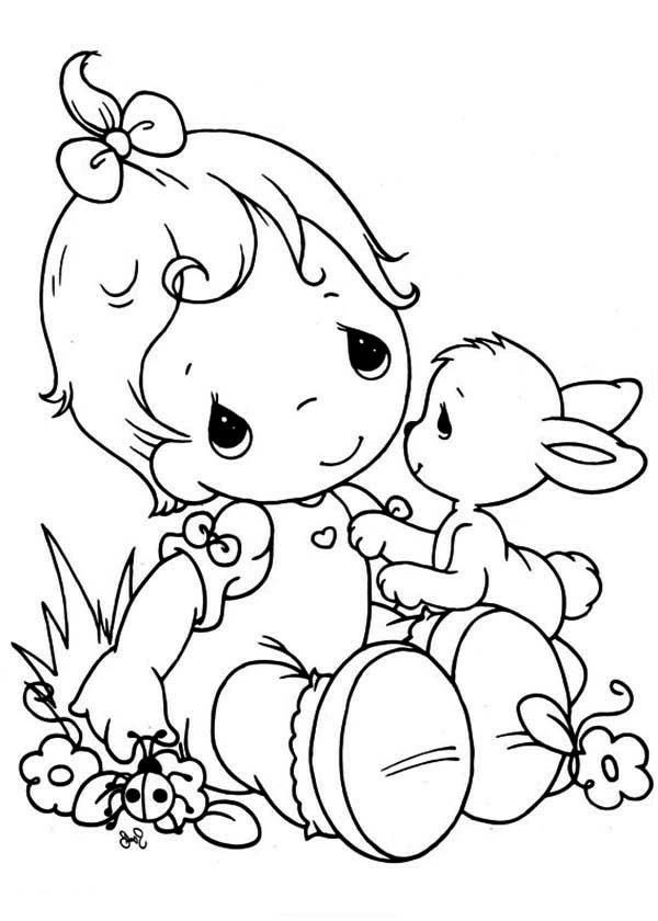 Easter or spring? | Precious moments coloring pages ...