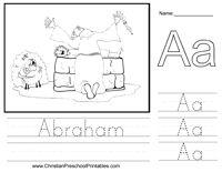 Abraham Bible Worksheet