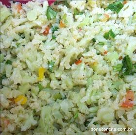 by dona concha -Receita Salada de Couve flor. Visite nosso blog: www.donaconcha.com.br