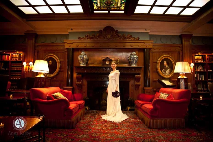 Wedding at the Penn Club - scene from the Franklin Living Room