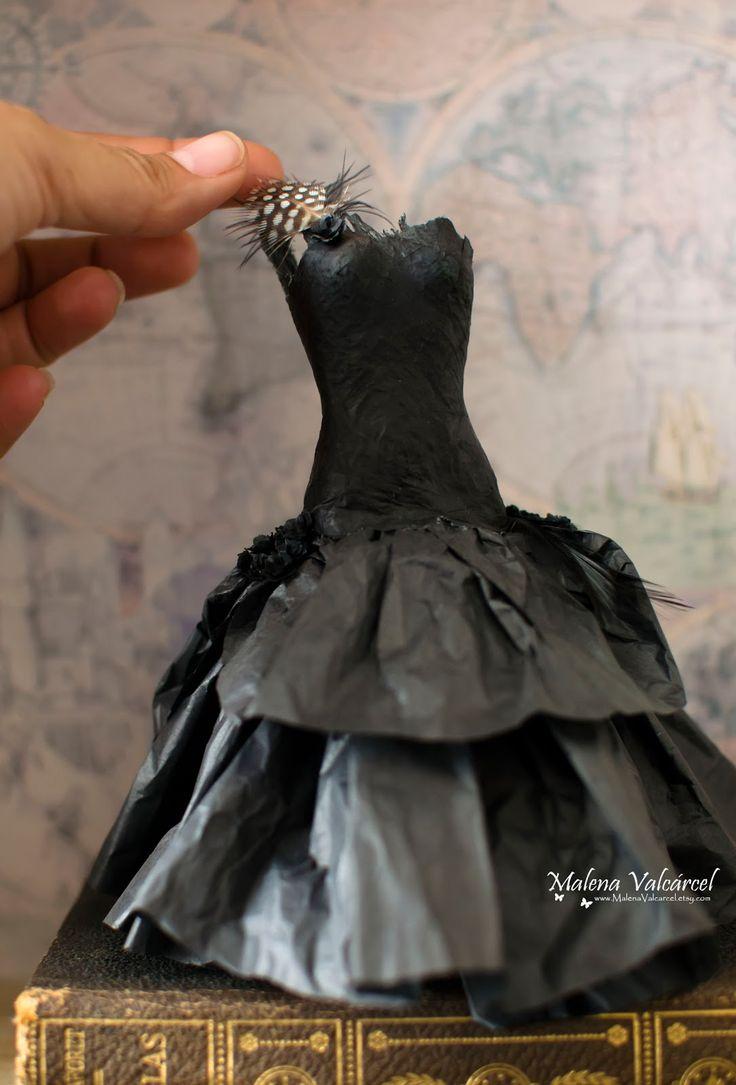 Miniature Paper Dress