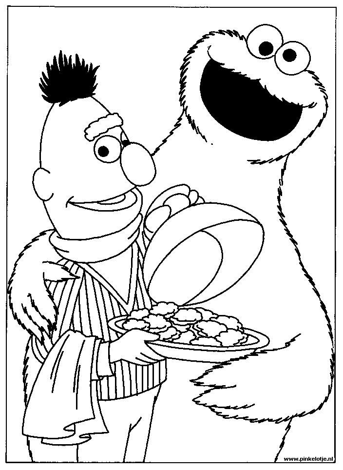 sesamstraat coloring pages - photo#10