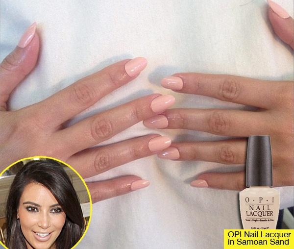 Kim Kardashian's Nude Nails: Get The Look   Shops, Kim ...