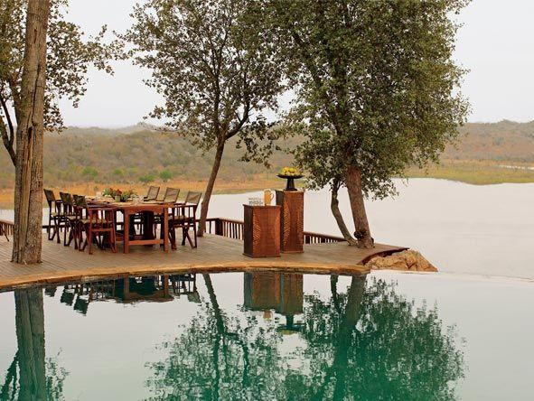 Swimming pool at Singita Pamushana Lodge, Zimbabwe.  Should you travel to Zimbabwe? Don't ask, just go! http://www.go2africa.com/africa-travel-blog/30930/should-i-travel-to-zimbabwe