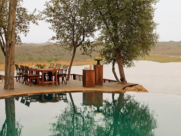 Swimming pool at Singita Pamushana Lodge, Zimbabwe.  Should you travel to Zimbabwe? Don't ask, just go! http://www.go2africa.com/africa-travel-blog/30930/should-i-travel-to-zimbabwe