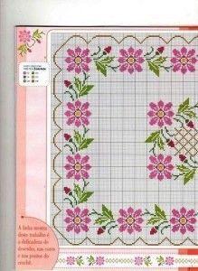 Esquinas de flores en punto cruz | Colección de patrones para realizar punto de…