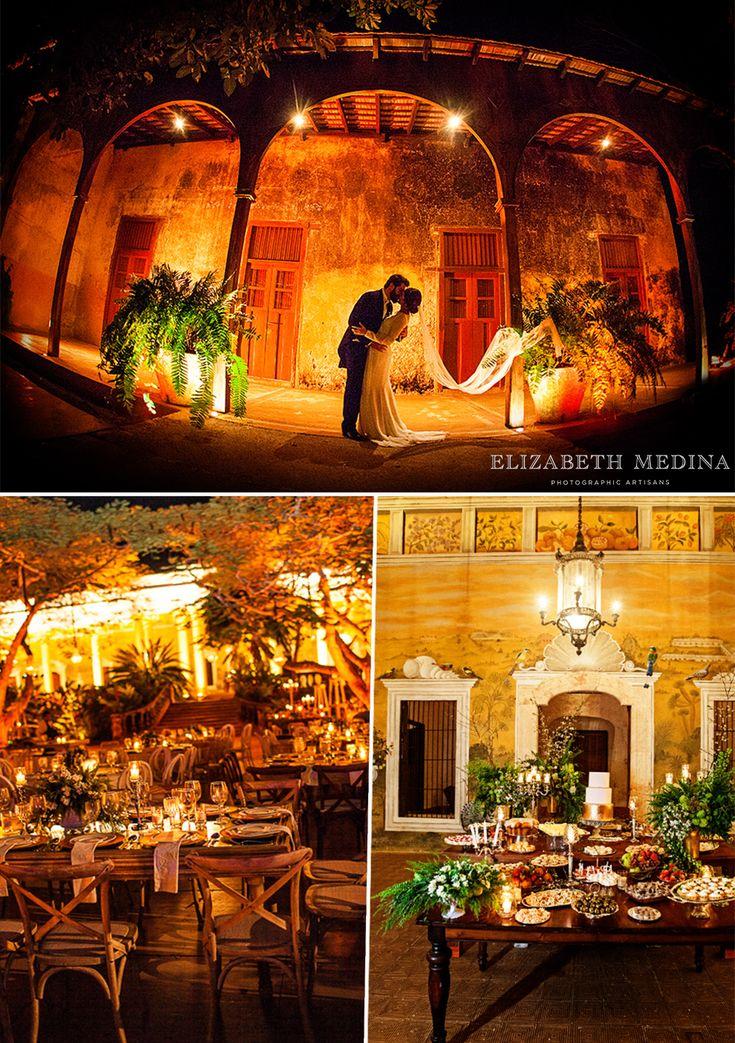 Hacienda Wedding Reception Decor Warm Lighting Studio9eventos BAKU