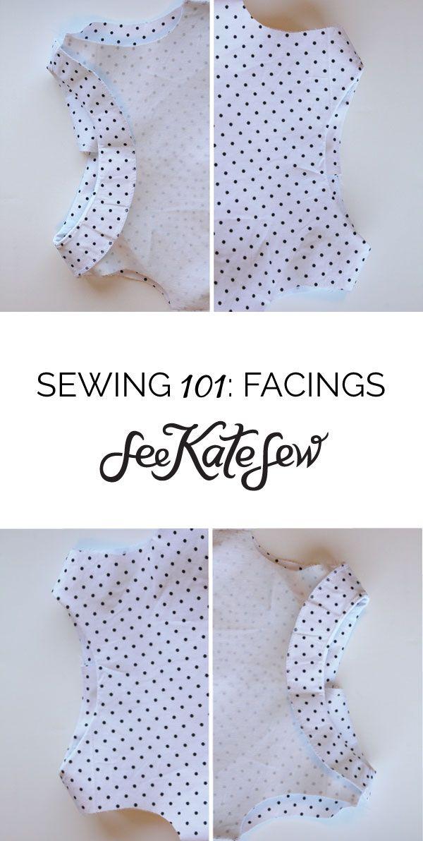 Facings   See Kate Sew