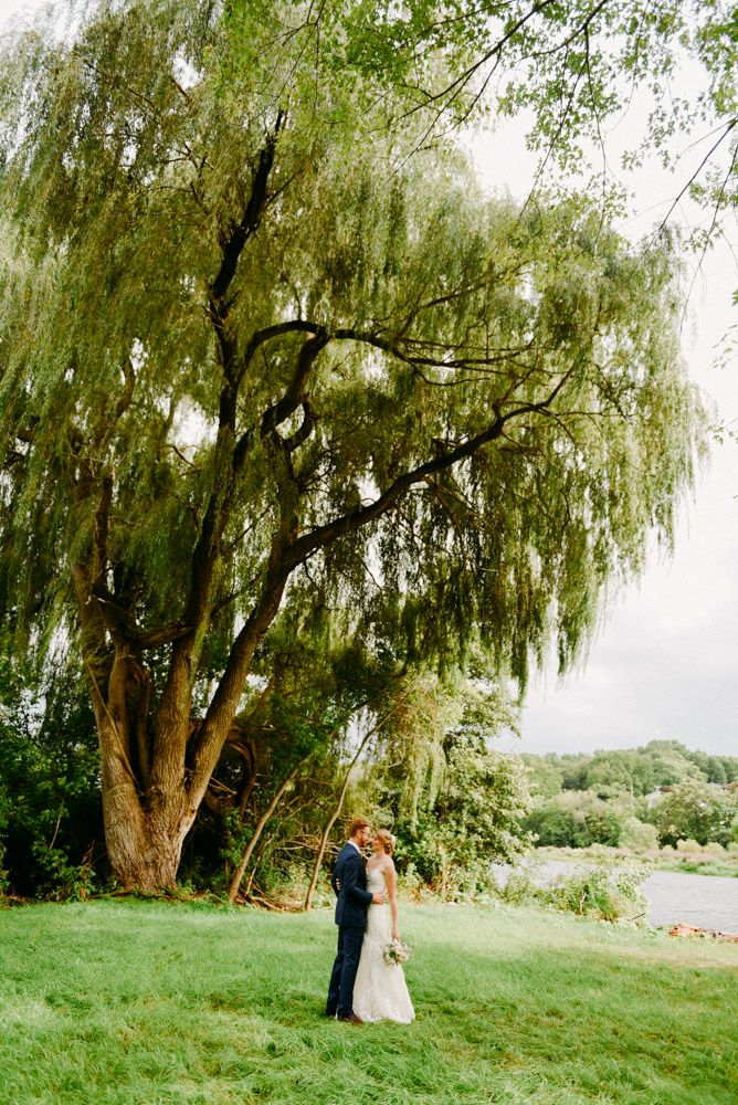 outdoor wedding venues minneapolis%0A Wedding at The Landing Huge willow tree provides a beautiful backdrop for  the bride and groom at this Wisconsin barn venue in Burlington  Wisconsin