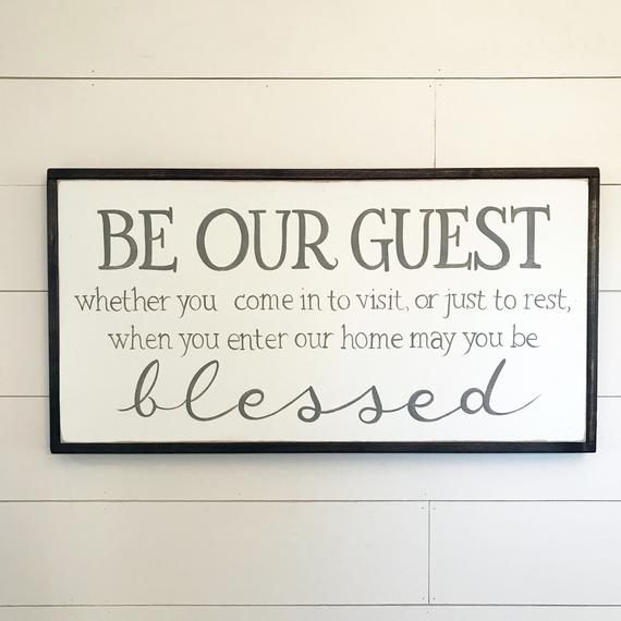 Be our Guest Sign | May you be blessed | Farmhouse Decor
