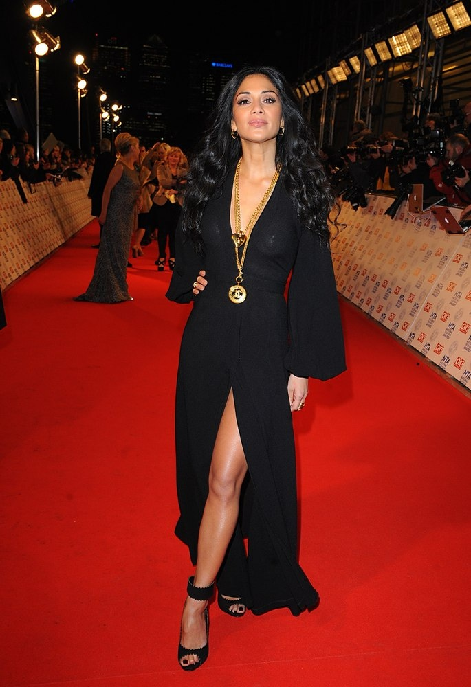 Nicole Scherzinger looking glamours at the National Television Awards 2013 Red Carpet