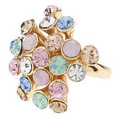 z&x® mooie gekleurde diamanten bloem ring