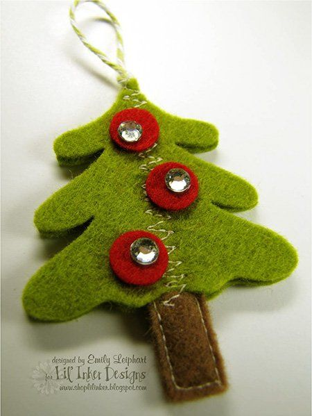 Manualidad para hacer un rbol de navidad de fieltro - Arbol navidad manualidades ...