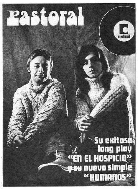 Lanzamiento de discos del grupo PASTORAL, década del 70.