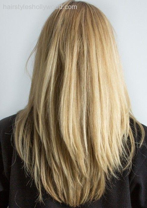 Layered haircuts from the back view Models V Layers on Pinterest   V Layer Cut…