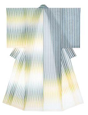 """Kimono of figured gauze titled """"Beautiful Sound"""" by Tsuchiya Yoshinori, Japanese National Living Treasure"""