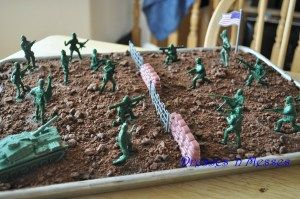 Army Birthday Party Cake for Zane. I can do this one! Maybe Oreo icing on white cake for him.