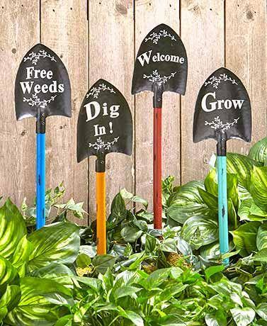 Shovel Garden Stakes – Unique garden ideas