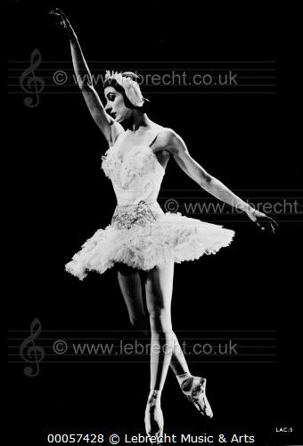 Margot Fonteyn dancing in / Margot Fonteyn dancing in Act II of  Tchaikovsky 's Swan Lake with Sadler's Wells Ballet Company. British dancer, born 18 May 1919, died 21 February 1991. Le Lac des Cygnes. c. 1950 / Lebrecht Music & Arts