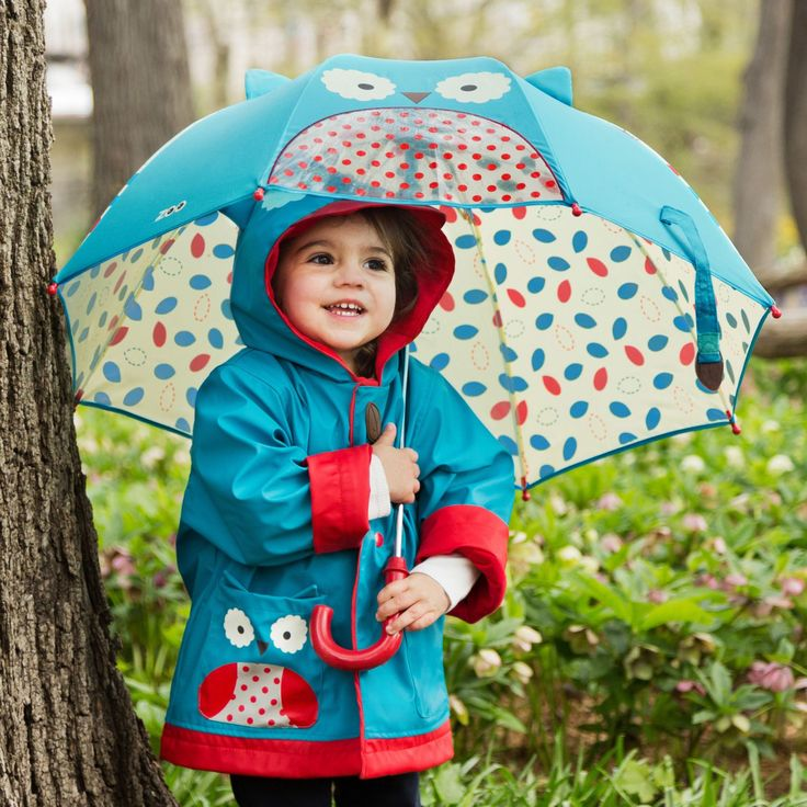 Skip Hop Zoobrella little kid umbrella & raincoat