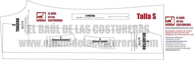 Mono BC110 pantalón Jogging Dama | EL BAÚL DE LAS COSTURERAS