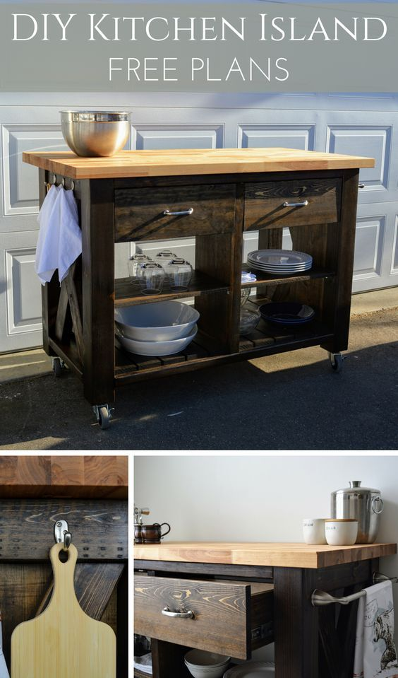 rustic x kitchen island inspired by pottery barn wood projects rh pinterest com