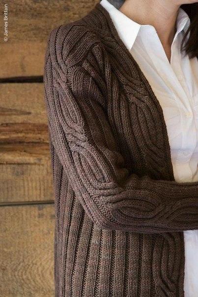 Элегантный кардиган спицами .. Обсуждение на LiveInternet - Российский Сервис Онлайн-Дневников