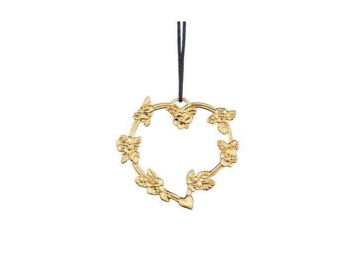 #Rosendahl Herz mit Blumenranke, vergoldet