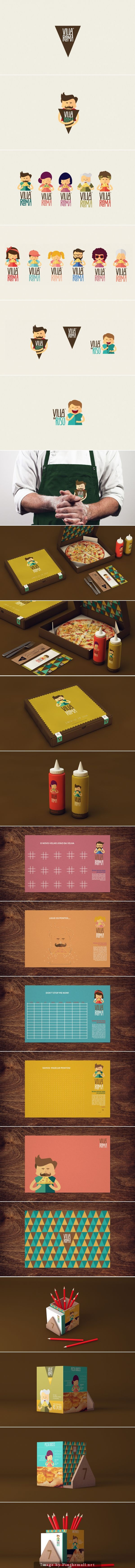 Villa Roma Branding by Isabela Rodrigues time for pizza #identity #packaging #branding PD