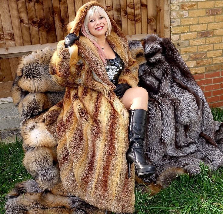 Miss Larissa ❤️ GOLDEN RED FOX FUR HOODED COAT FULL LENGTH SIZE XL-XXL GORGEOUS! UNISEX
