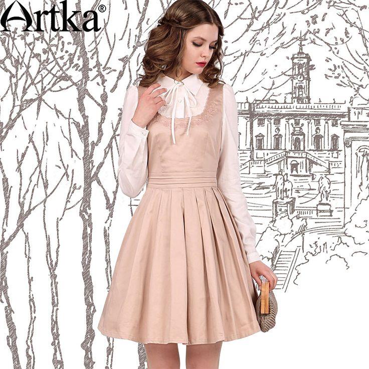 Women's Slim Fit Vintage Delicate Embroidery Square Neck Elastic Cinched Waist Swing Vest Dress