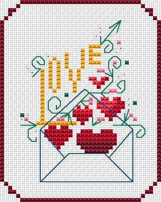 Dimensions Cross Stitch Patterns Free   Alita Designs > Cross Stitch Patterns > Cross Stitch Cards > Love ...