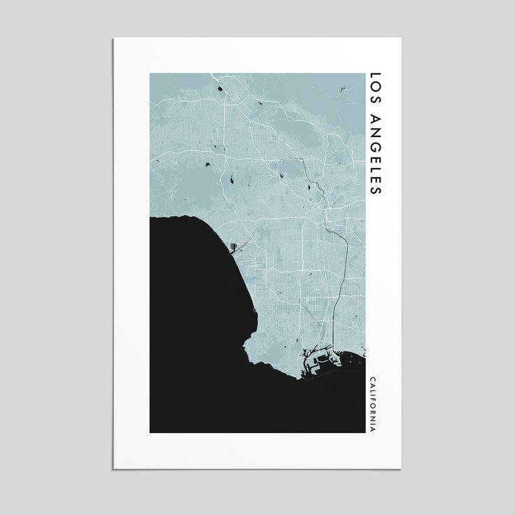California Quake Map Usgs%0A Los Angeles  California   City Map Print  Style
