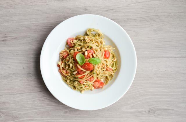 Volkoren avocado pasta, vegan diner