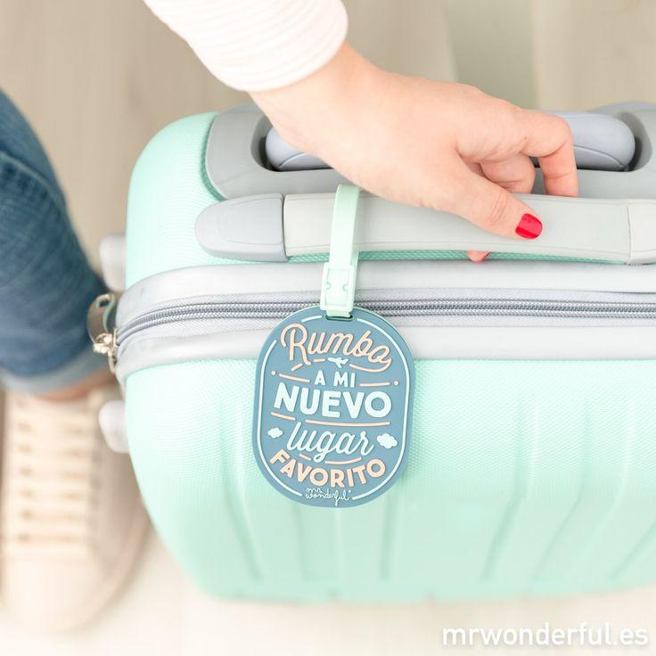 Etiqueta para equipaje - Rumbo a mi nuevo lugar favorito. Identificador de maleta para tenerlo todo bajo control. #mrwonderfulshop #travel #trip #bag #baggage #favorite #accessories #complements