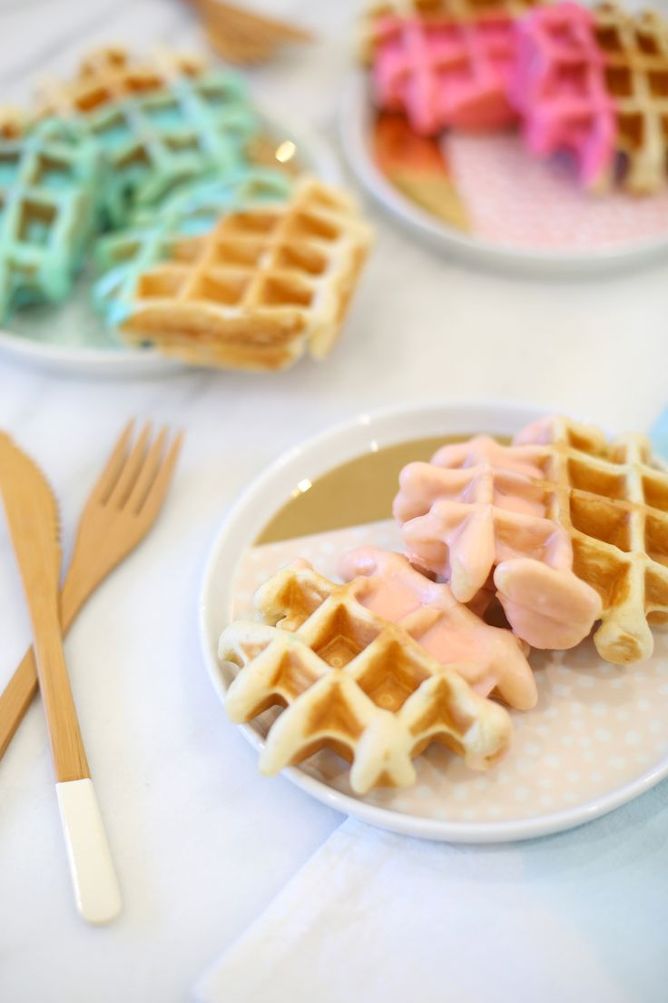 Color Dipped Waffle Recipe