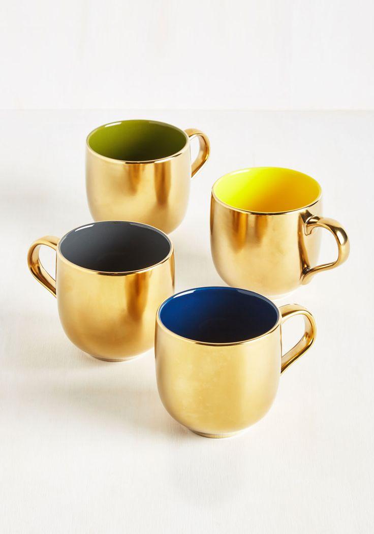 Gold Crush Mug Set