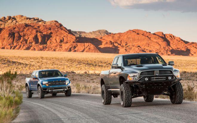 2012 Ford Raptor Vs 2012 Ram Runner Front