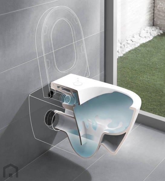 Toilet zonder spoelrand: Villeroy & Boch Subway 2.0 wandcloset diepspoel directflush -  5614R001