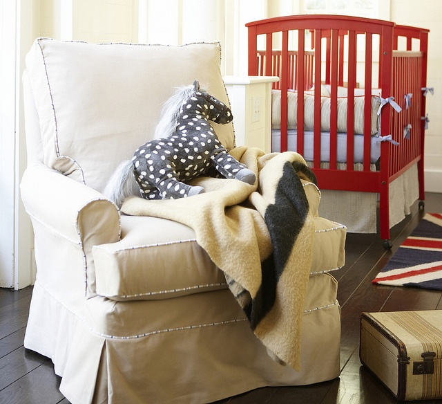 Red and Navy boy nursery: Except, Nurseries Style, Style Books, Photo Shared, Red Crib, Red Accent