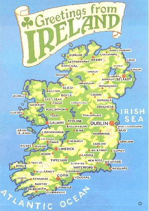 simple Map of Ireland | Our Beautiful Country