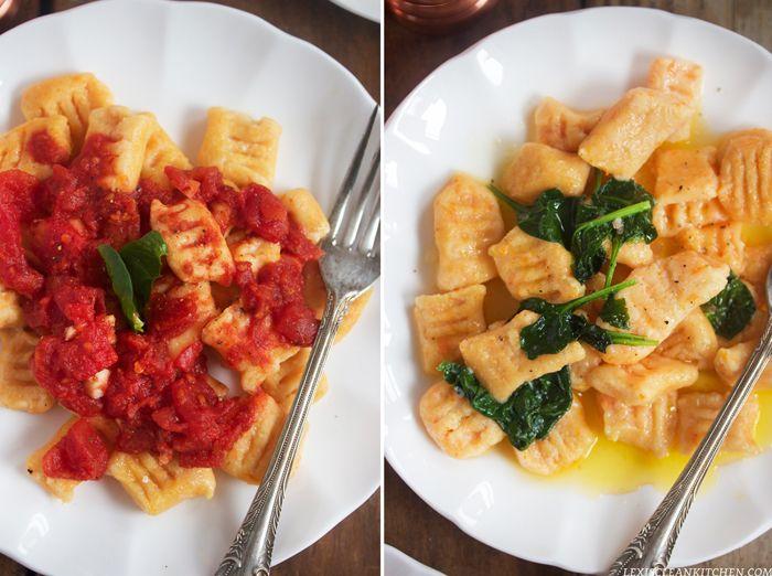 Sweet Potato Gnocchi: Two Ways