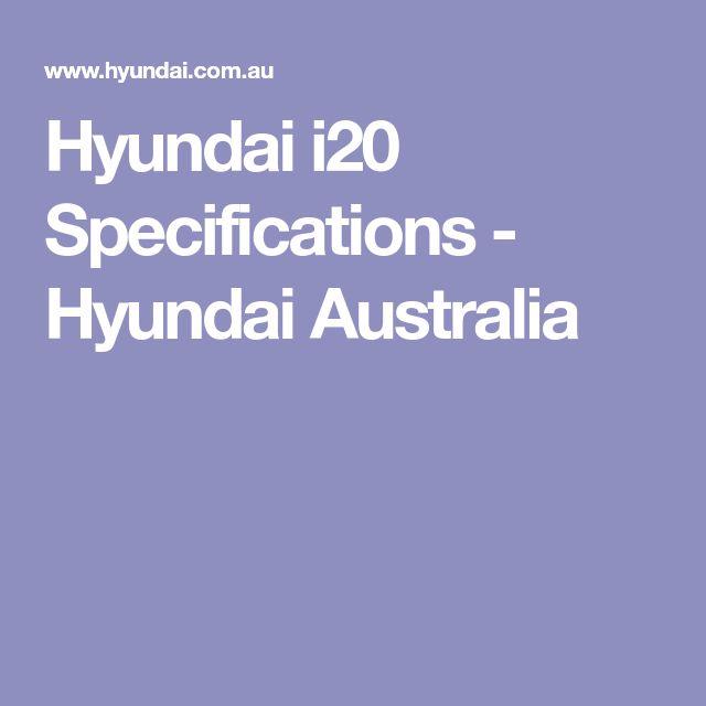 Hyundai i20 Specifications - Hyundai Australia