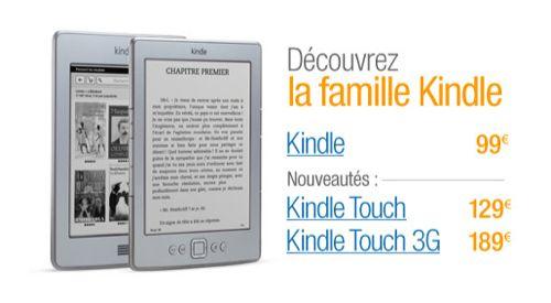 Le Kindle Touch disponible sur Amazon