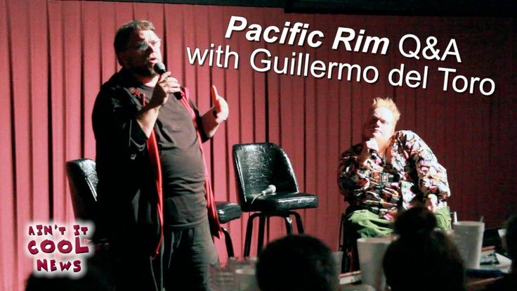 Pacific Rim Q with Guillermo del Toro. Harry Knowles @Harry Knowles of AintItCool and BNAT (Butt Numb a Thon).