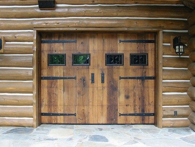 139 best garages en bois images on pinterest detached for Best wood for garage doors